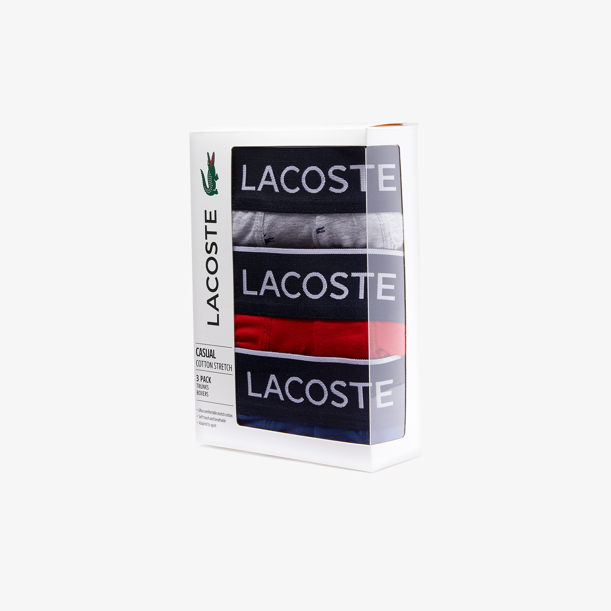 Труси 3шт. уп. чоловічі Lacoste