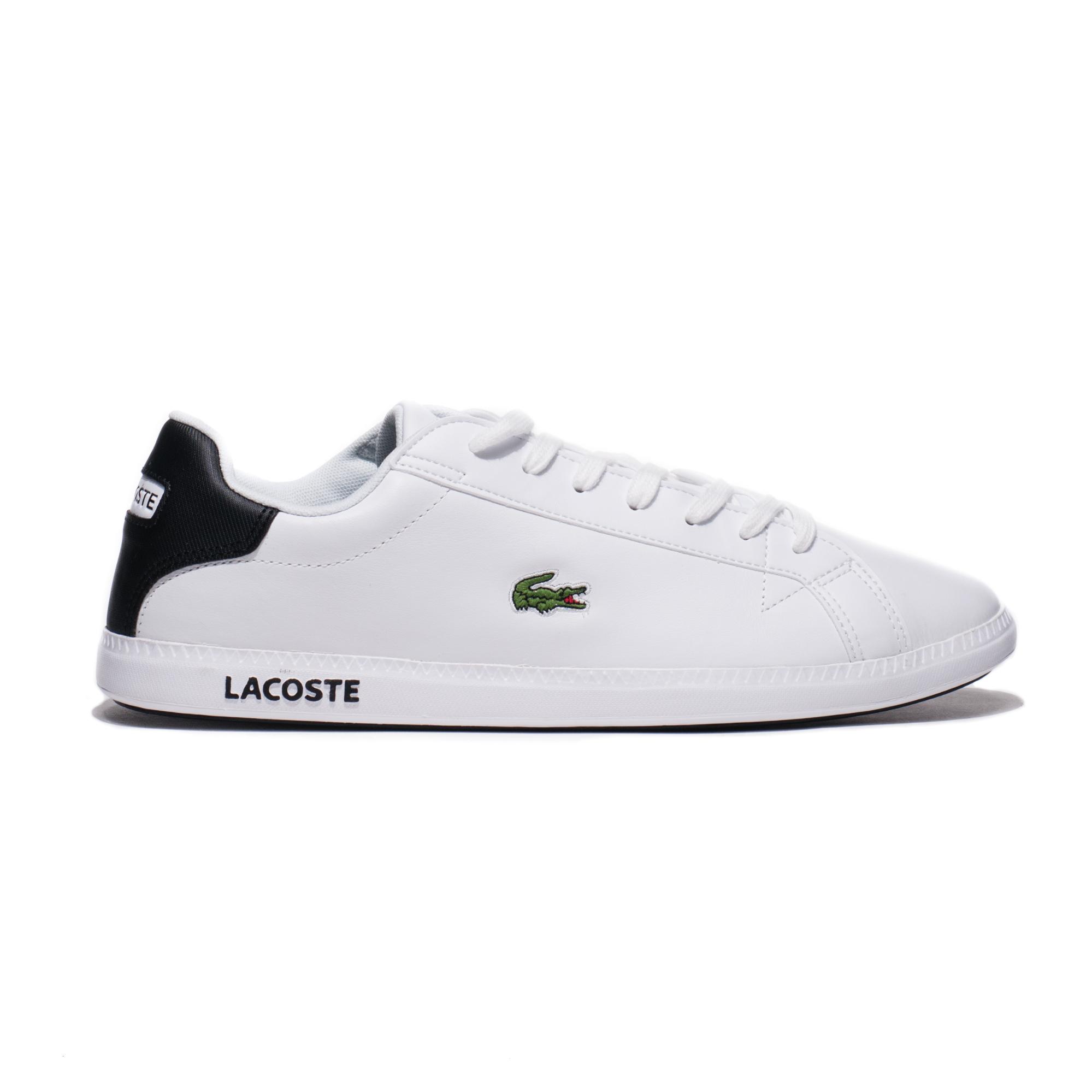 Кросівки чоловічі Lacoste LACOSTE GRADUATE 0120 2 SMA ERKEK BEYAZ - SIYAH SPOR AYAKKABI